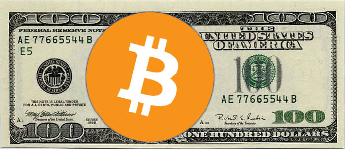 Bitcoin 100 Dollar Bill