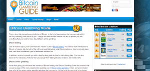 Bitcoin gambling guide Screenshot