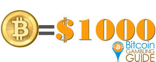 Bitcoin worth $1000