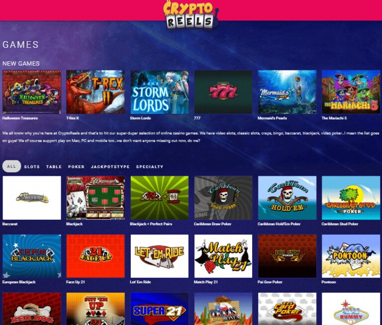 CryptoReels Online Casino Review