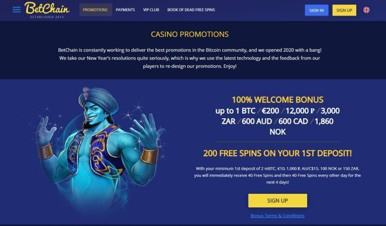 Betchain Casino Promotions - Copy