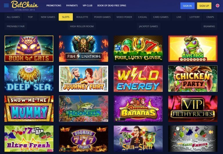 Betchain Casino Slot Games