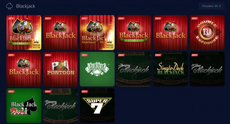 mBit Casino Blackjack Games