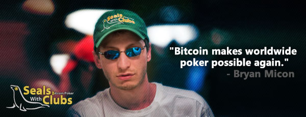 Bryan Micon Seals with Clubs Bitcoin Poker