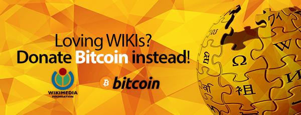 Donate Bitcoin Wikimedia
