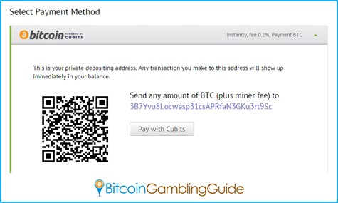 Bitcoin Deposit through Cubits