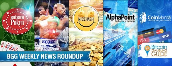 Roundup: NiceHash, Mayweather Odds & Enterra