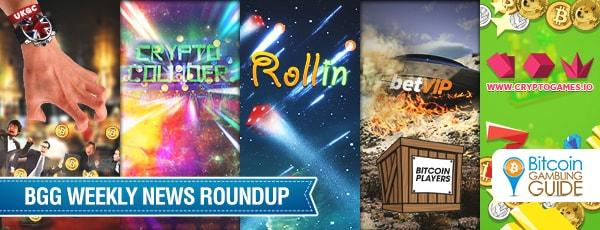 Roundup: Rollin.io, Cryptogames & Crypto Collider