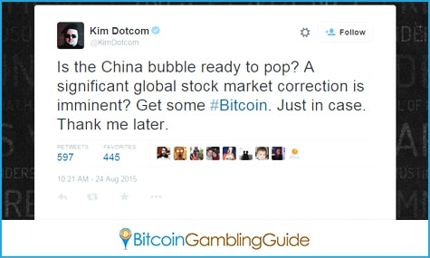 KimDotcom Promotes Bitcoin