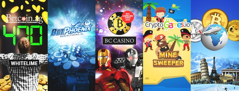 Roundup: CryptoGames.io, BC Casino, BetPhoenix & Betcoin.ag