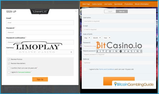 LimoPlay and BitCasino.io