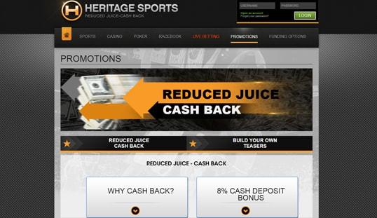 Heritage Sports Bonus