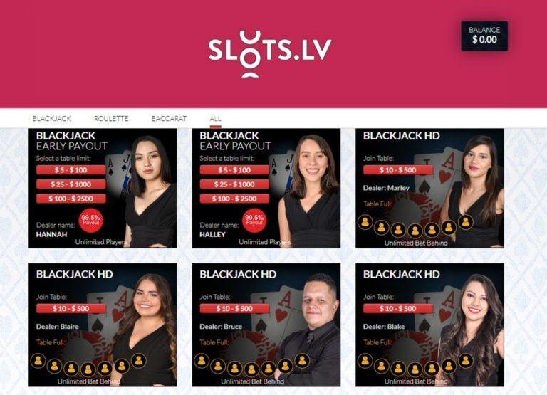 Slots.LV Live Dealer