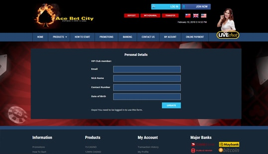 Ace Bet City Sign Up