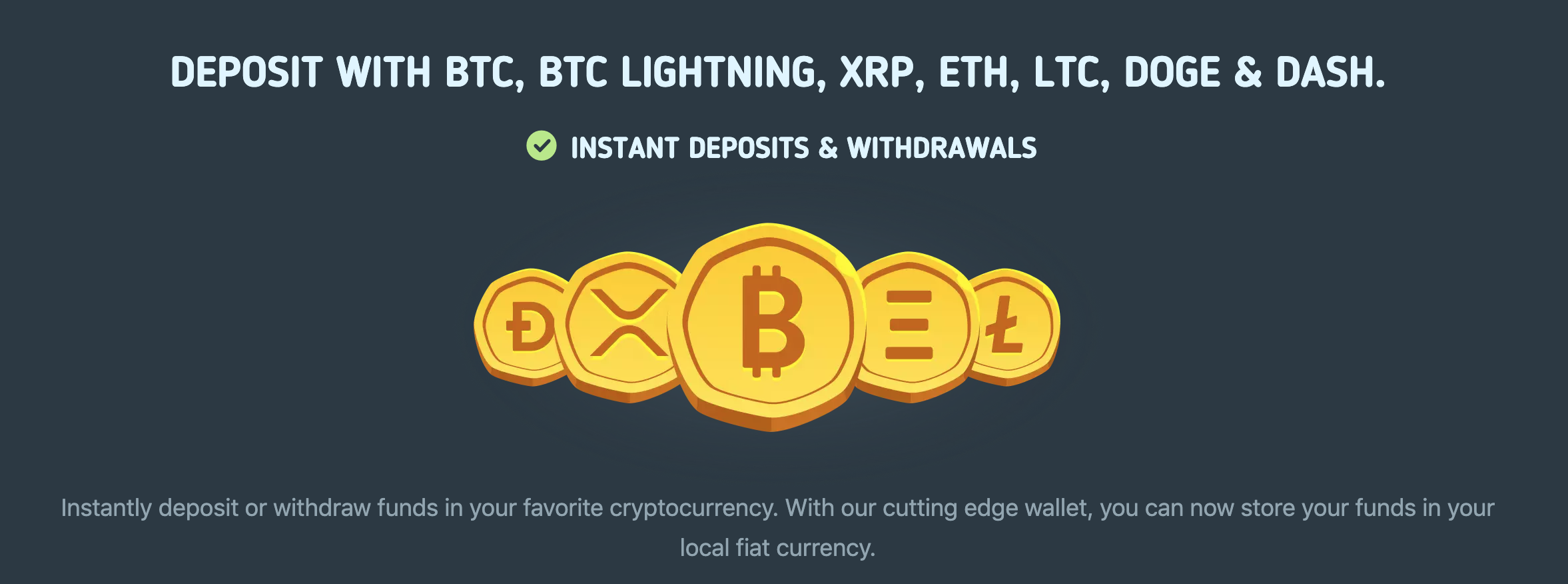 BitKong Deposit Options