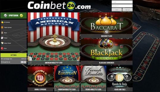 Coinbet24 Casino Games