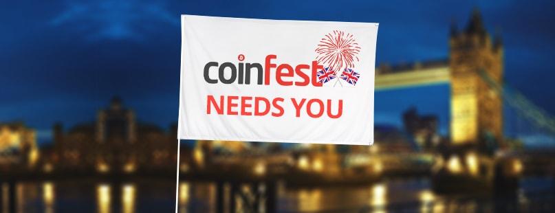 CoinFestUK 2016 Welcomes Volunteers On Board