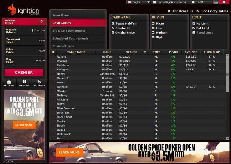 Ignition Casino Bitcoin Poker