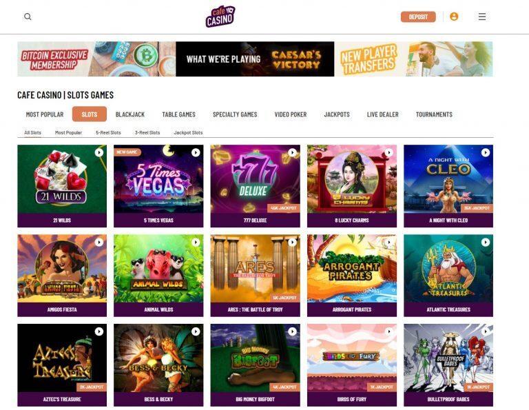 Cafe Casino Slot Games