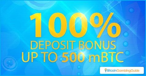 100% Deposit Bonus up to 0.5 BTC