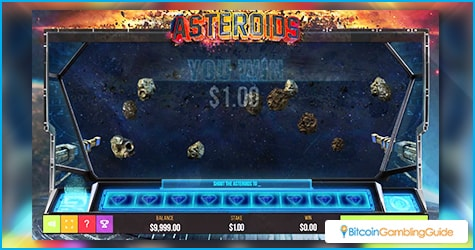 Atari Asteroids Instant-Win Game