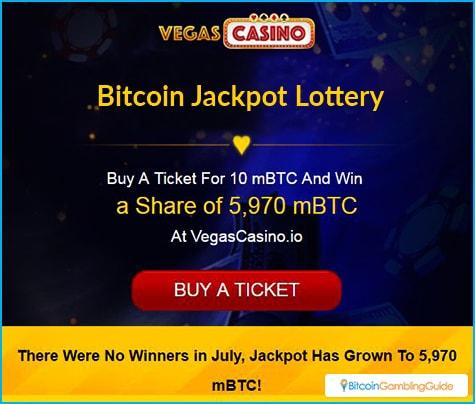 VegasCasino.io 5,000 mBTC Lottery