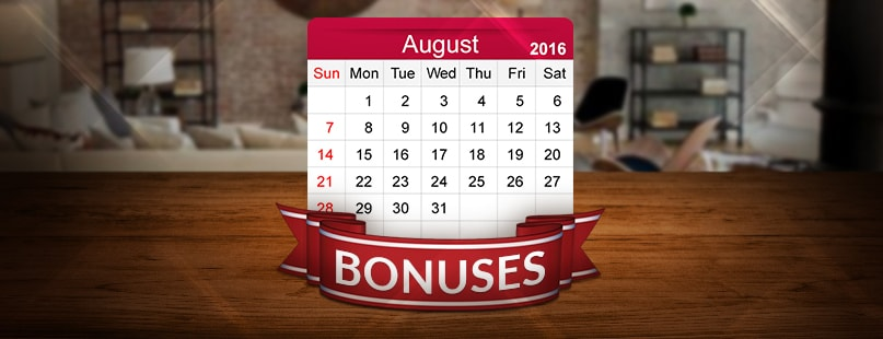 Large Prizes & Bonuses Highlight August Promotions