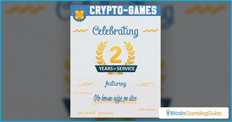 Crypto-Games.net 2nd Anniversary
