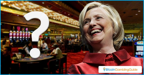 What will Hillary Clinton do to gambling industry?