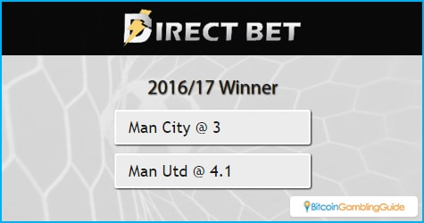 DirectBet offers odds for English Premier League winner