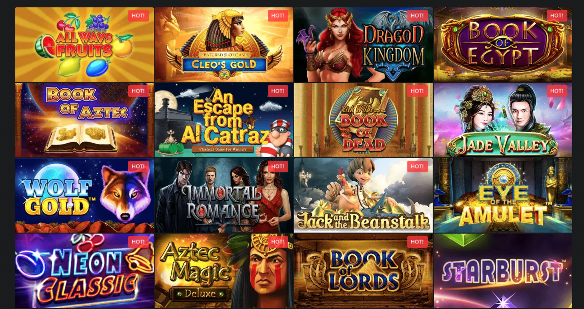 Golden Star Casino Games