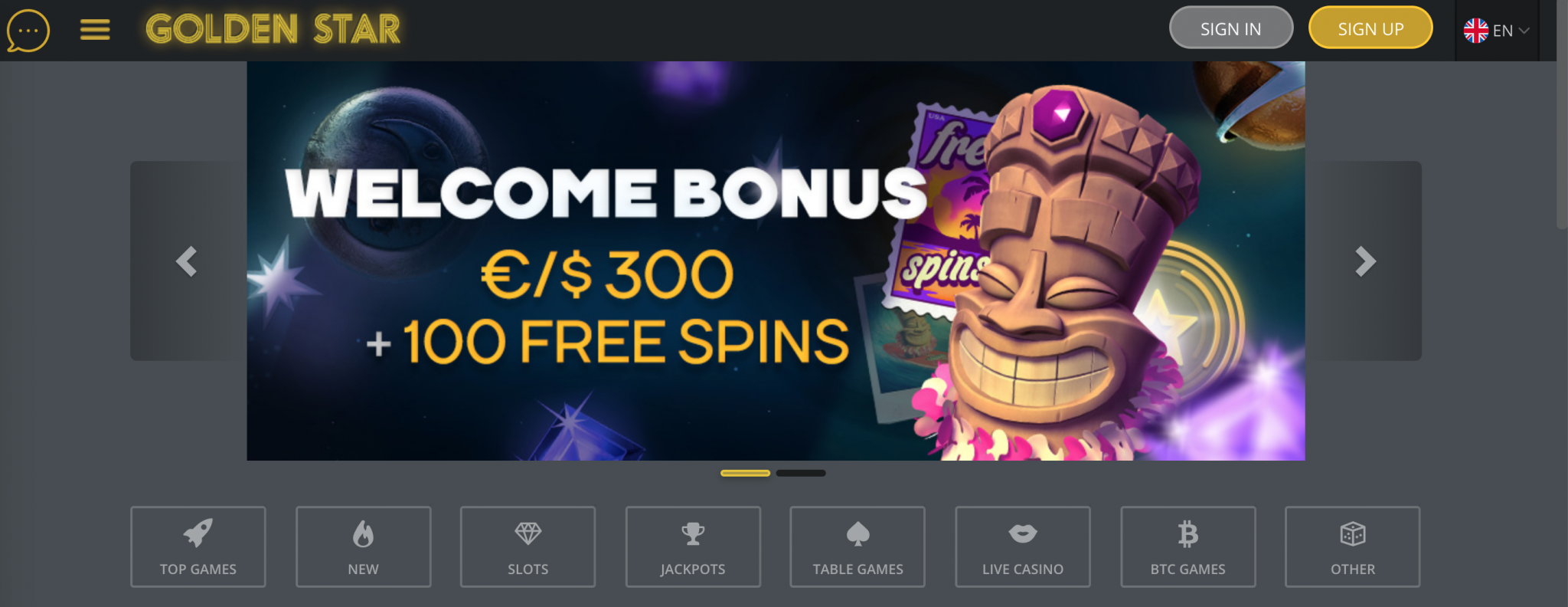 Golden Star Casino Welcome Bonus