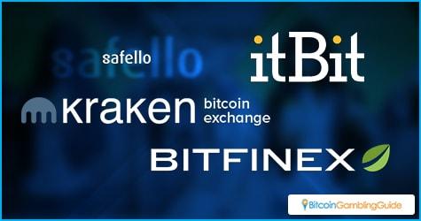 Safello, itBit, Kraken, Bitfinex