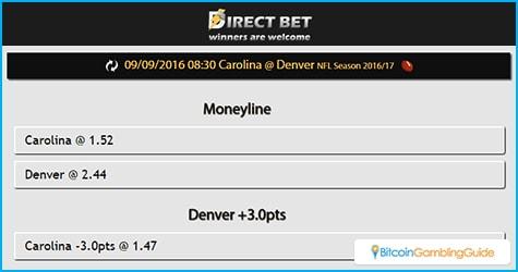 DirectBet NFL Odds