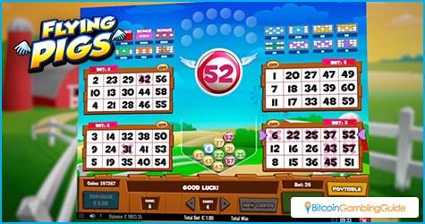 Flying Pigs Video Bingo Game