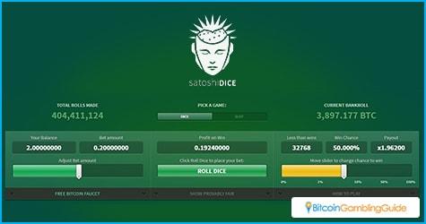 SatoshiDice Bitcoin Dice Game