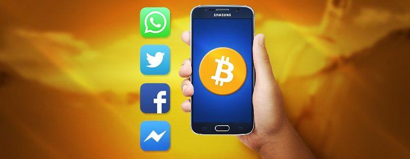 How Social Messaging Influences Bitcoin Gambling