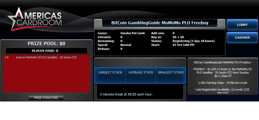 BitCoin GamblingGuide MoMoMo PLO Freebuy