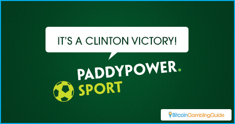 PaddyPower Calls a Clinton Victory