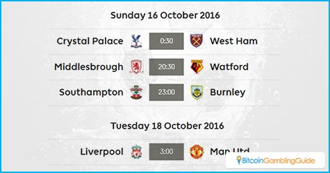 Premier League Week 8 Matches on Sunday and Tuesday