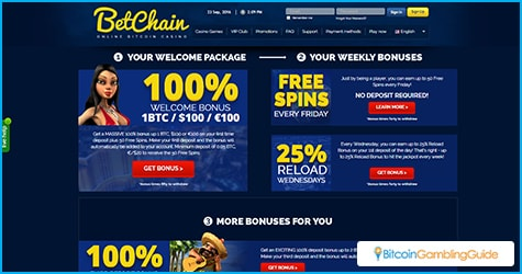BetChain Casino Bonuses