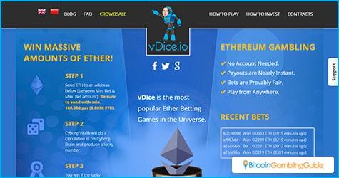 vDice.io Ethereum Dice Site