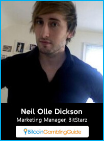 Neil Olle Dickson, Marketing Manager at BitStarz