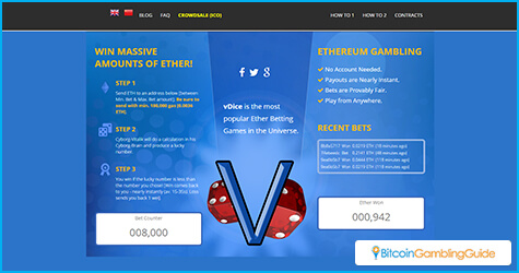 vDice.io Ethereum Dice Game