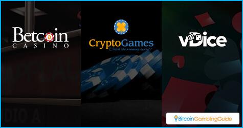 Betcoin.ag, vDice.io, Crypto-Games.net