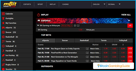 mBit Casino Sportsbook