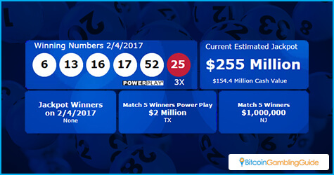 Powerball $255 million jackpot