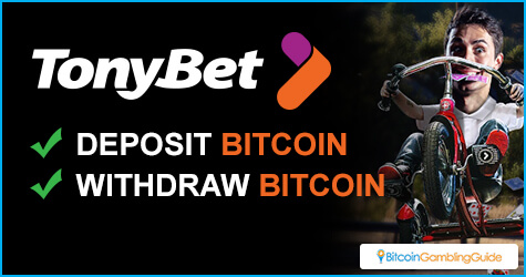 Tonybet processes Bitcoin deposits and withdrawals
