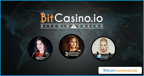 Live Blackjack tables at BitCasino.io