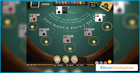 Play blackjack with Bitcoin online